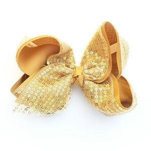 Gold & Sequin Bow